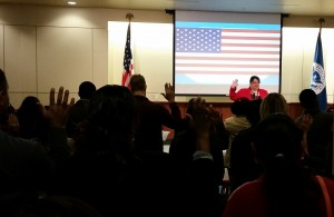 Citizenship swearing in ceremony