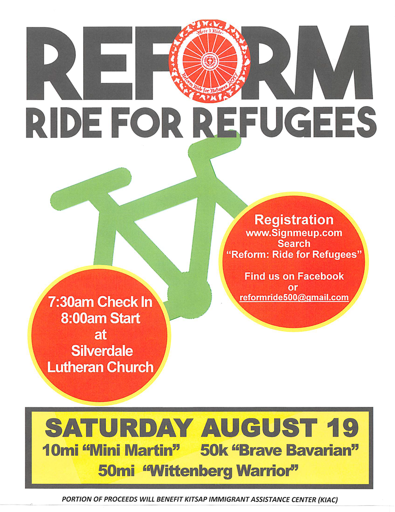 Ride for Refugees poster